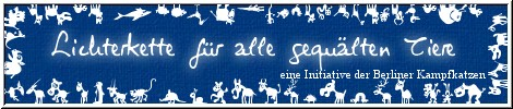Lichterkette der Berliner Kampfkatzen